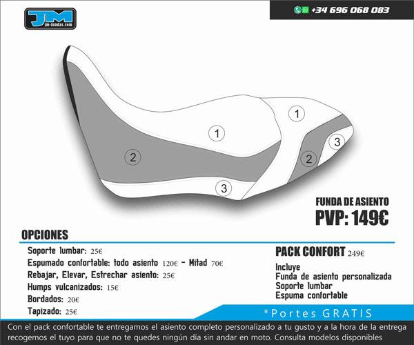 Funda Asiento Moto Carretera Plus 3